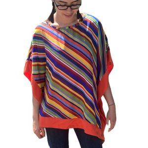 Asymmetrical Striped Blouse